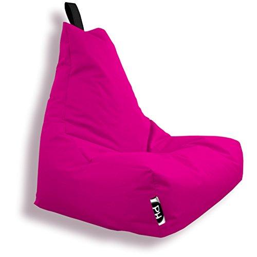 Patchhome Lounge Sessel Gamer Sessel Sitzsack Sessel Sitzkissen In & Outdoor geeignet fertig befüllt in diversen Farben in zwei Größen erhältlich Made in Germany