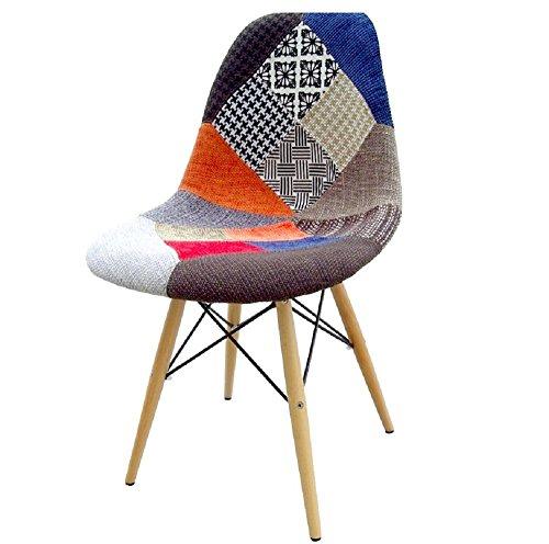 Patchwork Stuhl Modern Stoff Esszimmerstuhl Küchenstuhl Skandinavisch