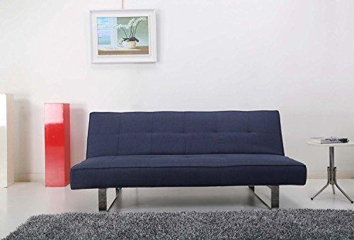 Sitzbank Bett Convertible 3Sitzer–Schlafsack 1Person–Modernes Design klares–System einfach und praktisch Schlafcouch–Antibes
