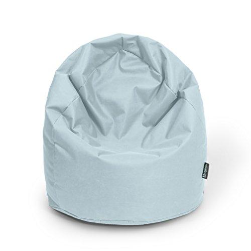 Sitzsack XL Grau mit Füllung BeanBag Sitzkissen Bodenkissen Kissen Sessel