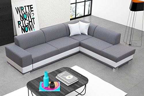 Sofa Couchgarnitur Couch Sofagarnitur DARCO als L Form mit Schlaffunktion, Bettkasten mit komfortablem Federungssystem. Ottomane links oder rechts kostenlos wählbar