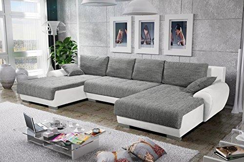Sofa Couchgarnitur Couch Sofagarnitur LEON 4 U Polstergarnitur Polsterecke Wohnlandschaft mit Schlaffunktion