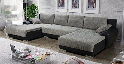 Sofa Couchgarnitur Couch Sofagarnitur LEON 6 U Polstergarnitur Polsterecke Wohnlandschaft mit Schlaffunktion