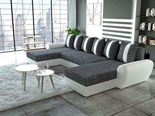 Sofa Couchgarnitur Couch Sofagarnitur PUMA U Polstergarnitur Polsterecke Wohnlandschaft mit Schlaffunktion und Bettkasten