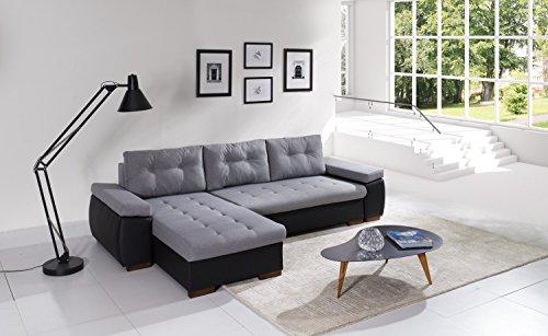 Sofa Couchgarnitur Couch Sofagarnitur RAVENNA 1 L Polstergarnitur Polsterecke Wohnlandschaft mit Schlaffunktion