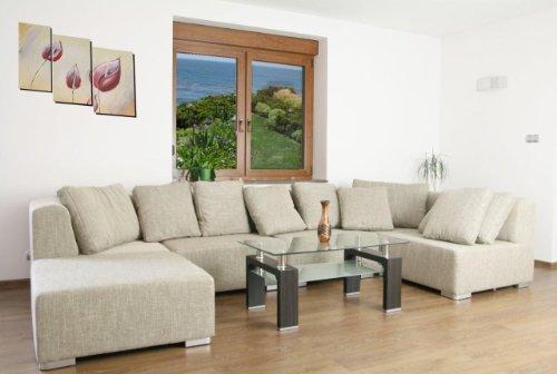 Sofa Couchgarnitur Couch Sofagarnitur SUPERMAX 6 Teile Modulsystem inkl. 7 Kissen Polstergarnitur Polsterecke Wohnlandschaft