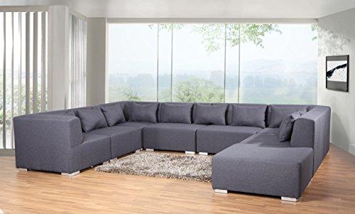 Sofa Couchgarnitur Couch Sofagarnitur SUPERMAX 8 Teile Modulsystem inkl. 10 Kissen Polstergarnitur Polsterecke Wohnlandschaft