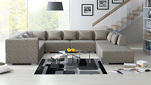 Sofa Couchgarnitur Couch Sofagarnitur SUPERMAX 8 Teile Modulsystem inkl. 10 Kissen in Berlin 03 Polstergarnitur Polsterecke Wohnlandschaft
