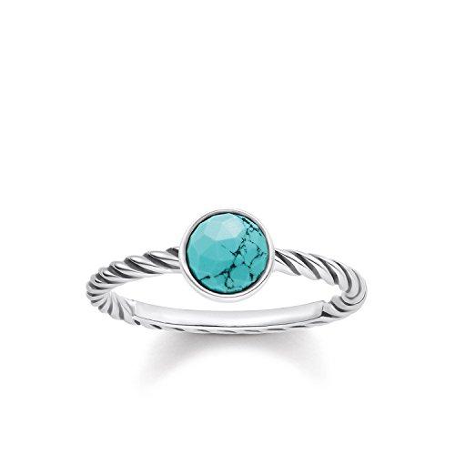 THOMAS SABO Damen-Ring Glam & Soul Ethno mit imitiertem Türkis 925 Silber - TR2130-878-17