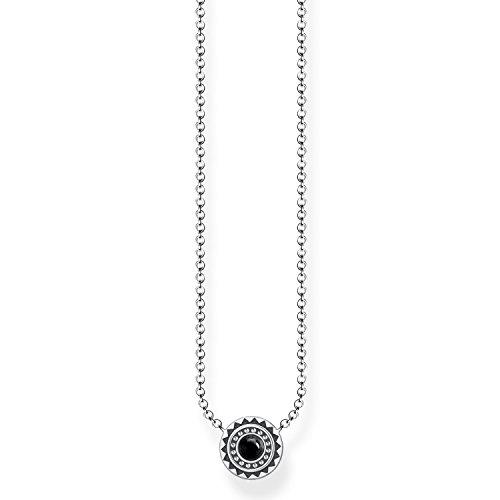Thomas Sabo Damen Kette Ethno Schwarz 925 Sterling Silber geschwärzt Schwarz KE1672-704-11-L45v