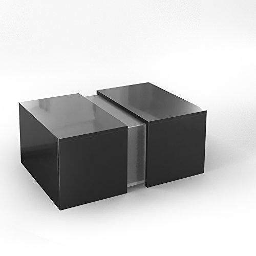 VICCO Couchtisch LED Schwarz Hochglanz - Loungetisch Wohnzimmer Tisch Sofa Couch Modern - Edles Acryl Dekor