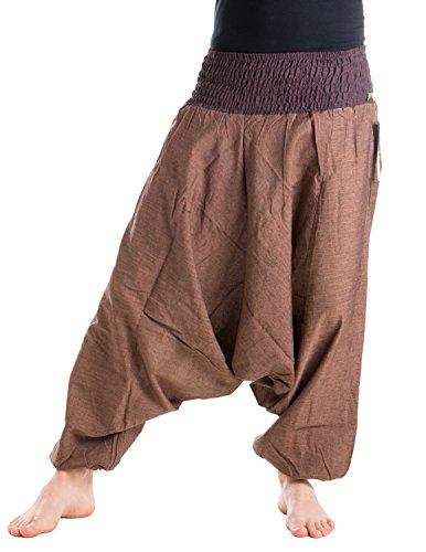 Vishes Alternative Bekleidung – Baumwoll Haremshose mit gestreiftem oder farbigem Bund