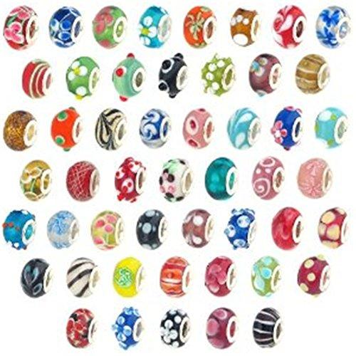 WAWO ANKKO Silber Glasperlen Muranoglas Murano Glasperlen Pandora Stil Charm Armbänder angepasst