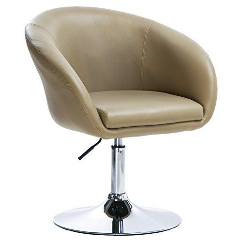 WOLTU Barsessel 1er Set, stufenlose Höhenverstellung, verchromter Stahl, Kunstleder, Gut Gepolsterte Sitzfläche mit Armlehne und Rücklehne #825