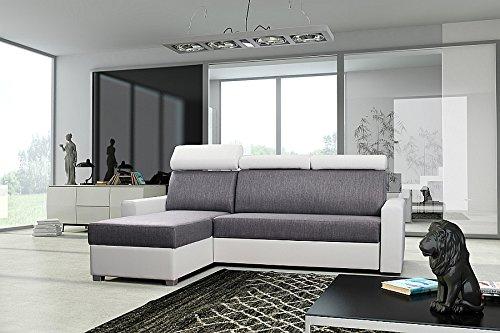 Wohnideebilder Couchgarnitur Sofa Polsterecke Couch Porto w/g Schlaffunktion Eckcouch Ecksofa