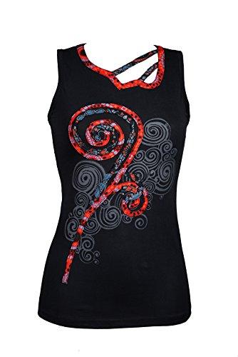 Wunderschönes Sommer Top - Yoga Top im asymmetrischen Patchwork Design - Ethno Chic - 100% Baumwolle - AYA
