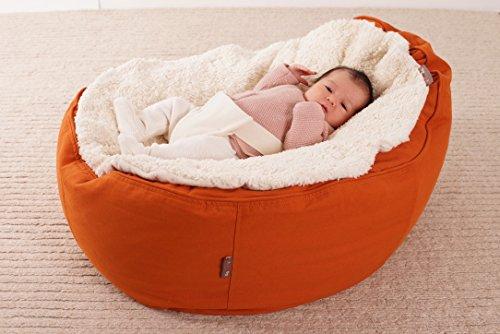 Öko Baby-Sitzsack Baby EcoEgg® - hochwertiger ergonomischer Sitzsack Liegesack Sitzkissen Liegekissen für Babys