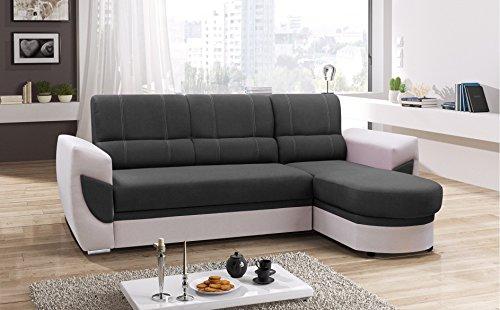 mb-moebel Ecksofa Sofa Eckcouch Couch mit Schlaffunktion und Bettkasten Ottomane L-Form Schlafsofa Bettsofa Polstergarnitur Timo