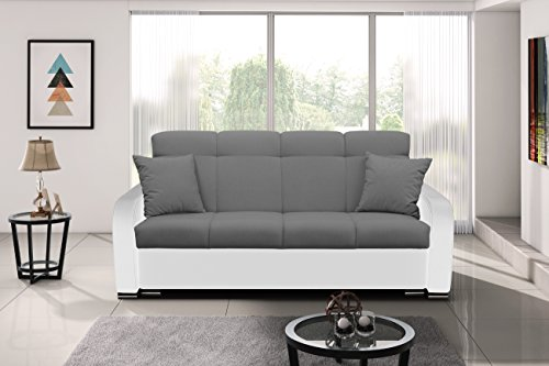 mb-moebel Modernes Sofa Schlafsofa Kippsofa mit Schlaffunktion Klappsofa Bettfunktion mit Bettkasten Couchgarnitur Couch Sofagarnitur 3er Paul