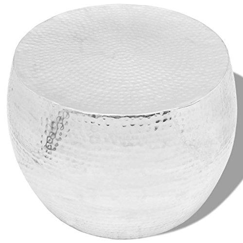 vidaXL Design Couchtisch Beistelltisch Hammerschlag Aluminium mehrere Auswahl