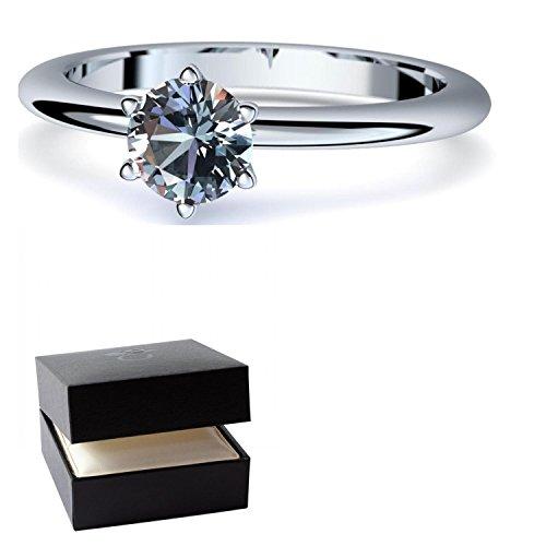 Blautopas Ring Silber 925 (***sehr hochwertiger Blautopas 5 mm***) + GRATIS Luxusetui Silberring blauer Stein Silberring Blautopas Blautopasringe Ringe Damen Schmuck AM195 SS925BTFA
