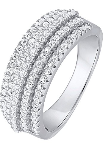 C-Collection by CHRIST Damen-Ring 925er Silber 100 Zirkonia (silber)