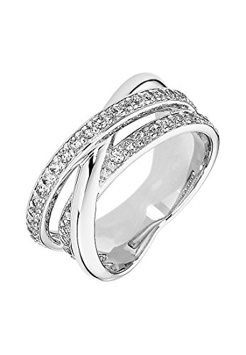 C-Collection by CHRIST Damen-Ring 925er Silber 42 Zirkonia (silber)