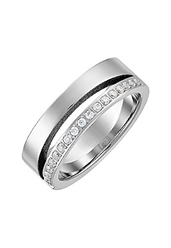 C-Collection by CHRIST Damen-Ring Edelstahl 18 Zirkonia (silber)
