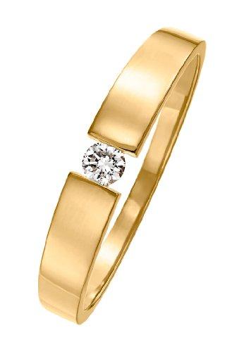 CHRIST Diamonds Damen-Ring 585er Gelbgold ca. 0,08 Karat (gold)