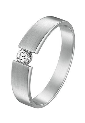 CHRIST Diamonds Damen-Ring 585er Weißgold 1 Diamant ca. 0,15 Karat (silber)