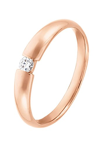 CHRIST Diamonds Damen-Ring #NV 375er Roségold 1 Diamant ca. 0,08 Karat (rosé)