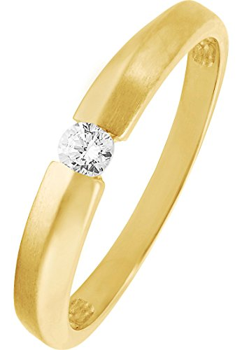 CHRIST Gold Damen-Ring 333er Gelbgold 1 Zirkonia (gold)