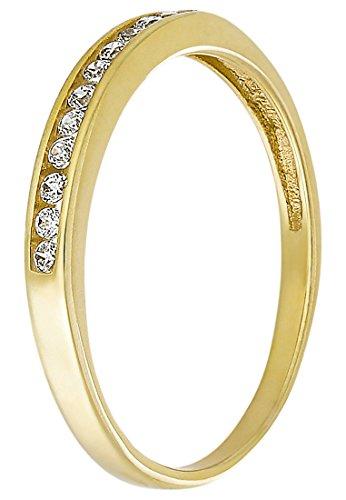 CHRIST Gold Damen-Ring 333er Gelbgold 12 Zirkonia (gold)