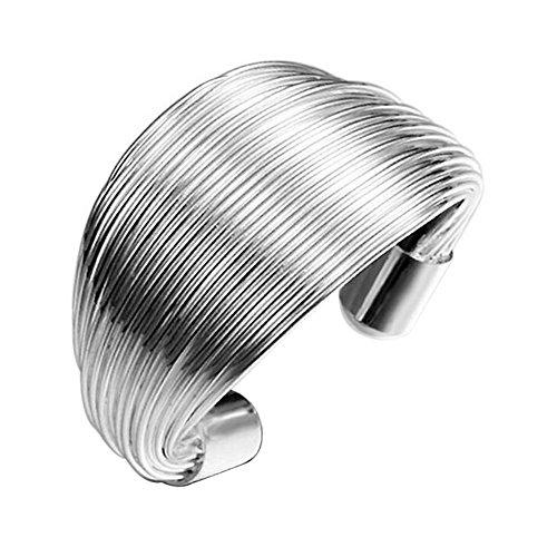 Cdet Damen Ring Stilvoll Spulenform Silberring Offener Ring Valentinstag Weihnachten Geburtstag Geschenk Tägliche Schmuckstücke