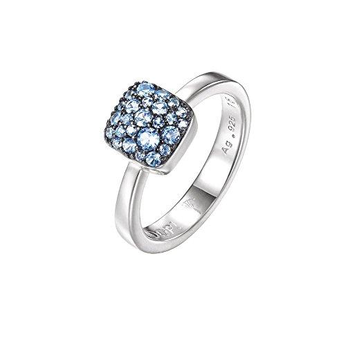 JOOP! Jewelry Damen-Ring JP-M Pave RG90798D170 925 Silber rhodiniert Zirkonia blau JPRG90798D1