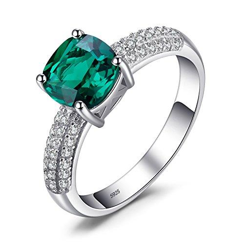 Jewelrypalace Grün Simulierte Prinzess Nano Russisch Smaragd Rubin Saphir Silber Ring Ringe 925 Sterling Silber Damen