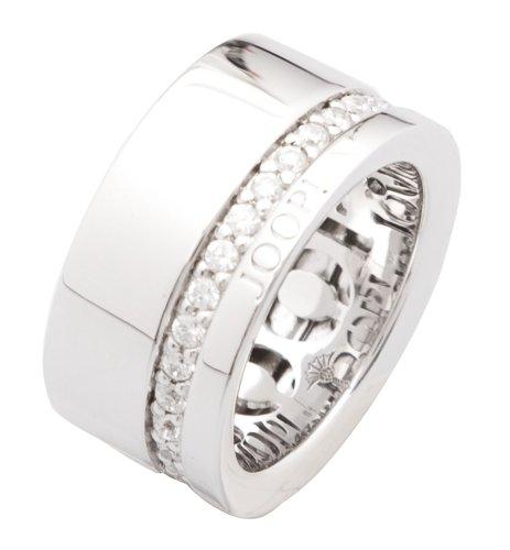 Joop! Damen-Ring 925 Silber Zirkonia weiß Rundschliff Gr. 55 (17.5) - JPRG90513A550