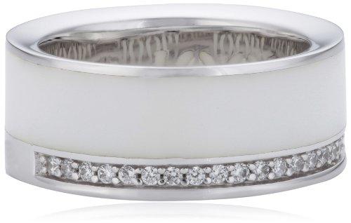 Joop Damen-Ring Epoxy Zirkonia weiss 925 Sterling Silber JPRG90653B530