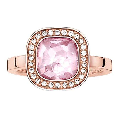 THOMAS SABO Damen-Ring 925er Silber 1 Zirkonia 1 Korund TR2029-633-9-52