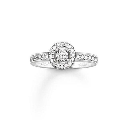 THOMAS SABO Damen-Ring 925er Silber Zirkonia TR1975-051-14-52