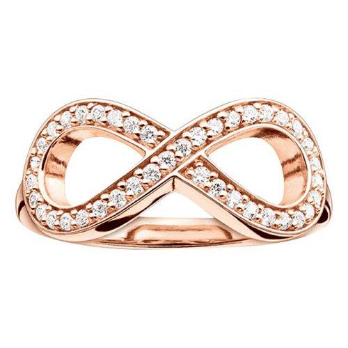 THOMAS SABO Damen-Ring 925er Silber Zirkonia TR2014-416-14-52