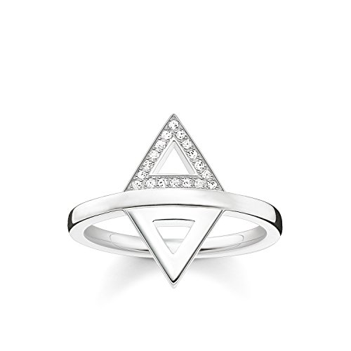 THOMAS SABO Damen Ring Dreieck 925er Sterlingsilber D_TR0019-725-14