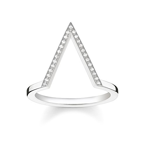 THOMAS SABO Damen Ring Dreieck 925er Sterlingsilber D_TR0020-725-14