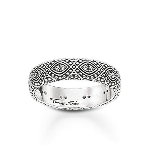 THOMAS SABO Damen Ring Ethno Ornamente Ring Ethno Ornamente 925er Sterlingsilber, Geschwärzt TR2092-643-14