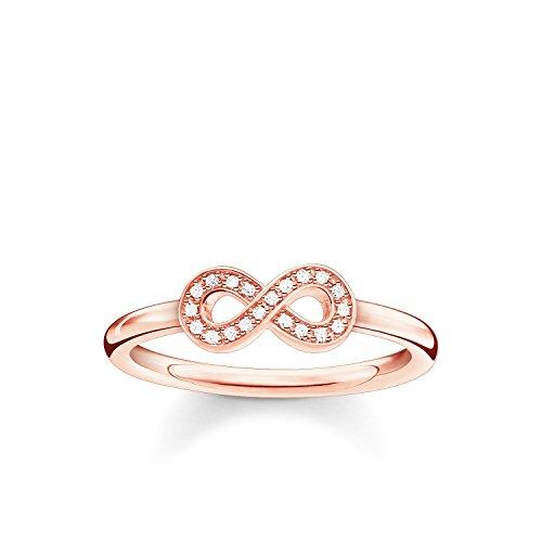 THOMAS SABO Damen Ring Infinity 925er Sterlingsilber; 750er Roségold Vergoldung D_TR0001-923-14