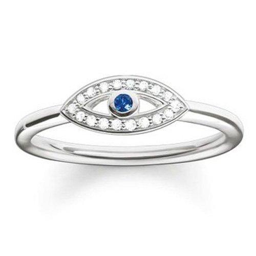 Thomas Sabo Damen-Ring 925 Silber Zirkonia weiß Gr. 56 (17.8) - TR2075-412-32-56