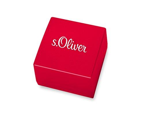 s.Oliver Damen-Ring So Pure 2 mm schmal schlicht Kugel-Design 925 Silber Sterling rhodiniert