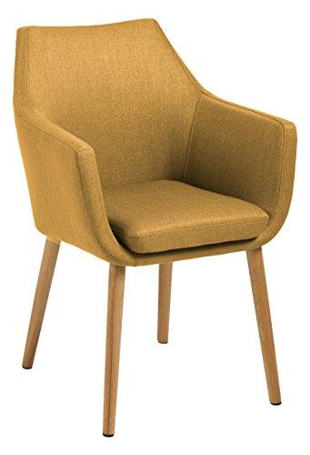 AC Design Furniture Stuhl Trine, B: 58 x T:58 x H: 84 cm, Metall, Gelb
