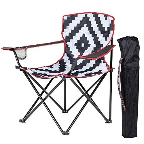 Bo-Camp Urban Outdoor Campingstuhl Madison Retro Klappstuhl Gartenstuhl Klappsessel 52 x 89 x 85 cm