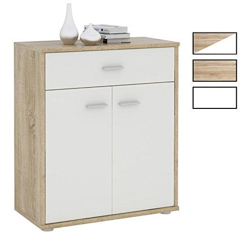 CARO-Möbel Kommode Sideboard Schrank Tommy in Verschiedenen Farben, Anrichte mit 1 Schublade und 2 Türen